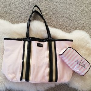 Victoria's Secret tote with small make up bag